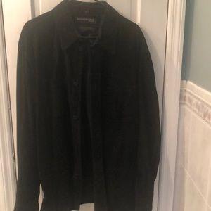 Genuine leather Kenneth Cole shirt
